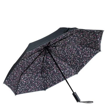 Nokian Jalkineet Nanso Puolukka sateenvarjo - Musta/pinkki